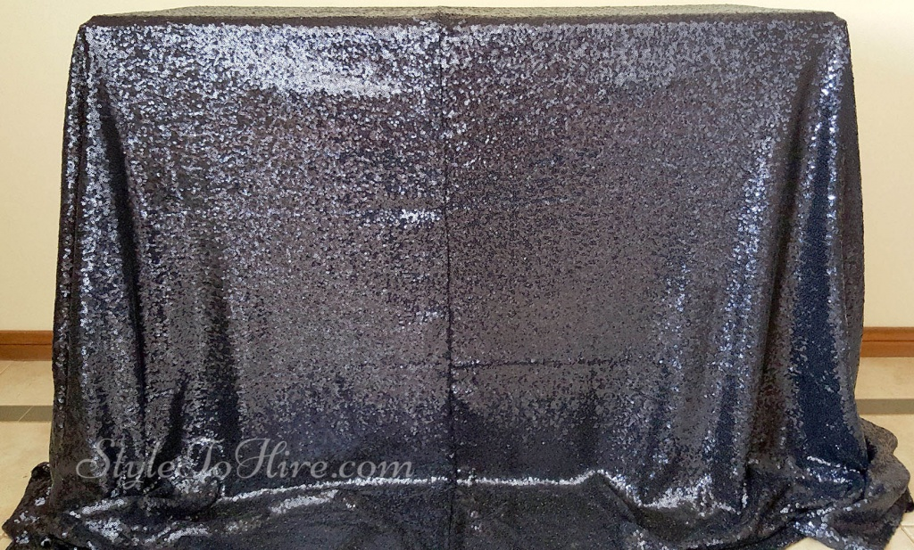 Navy sequin tablecloth $40.00