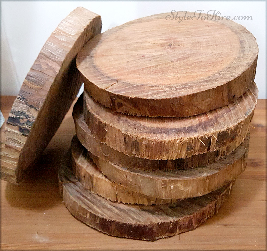 Wooden rounds $5.00 each