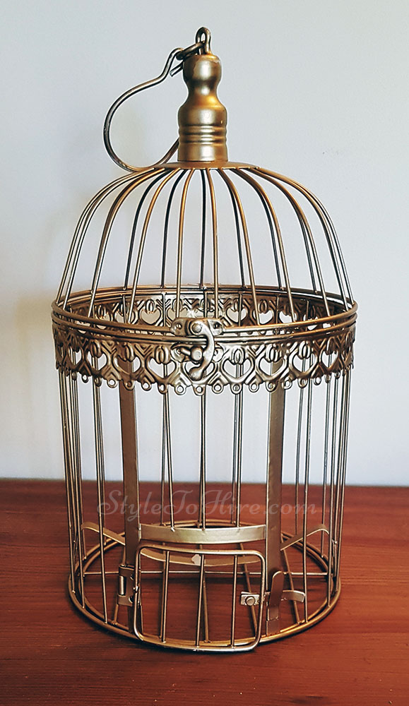 Gold birdcage $5.00 each