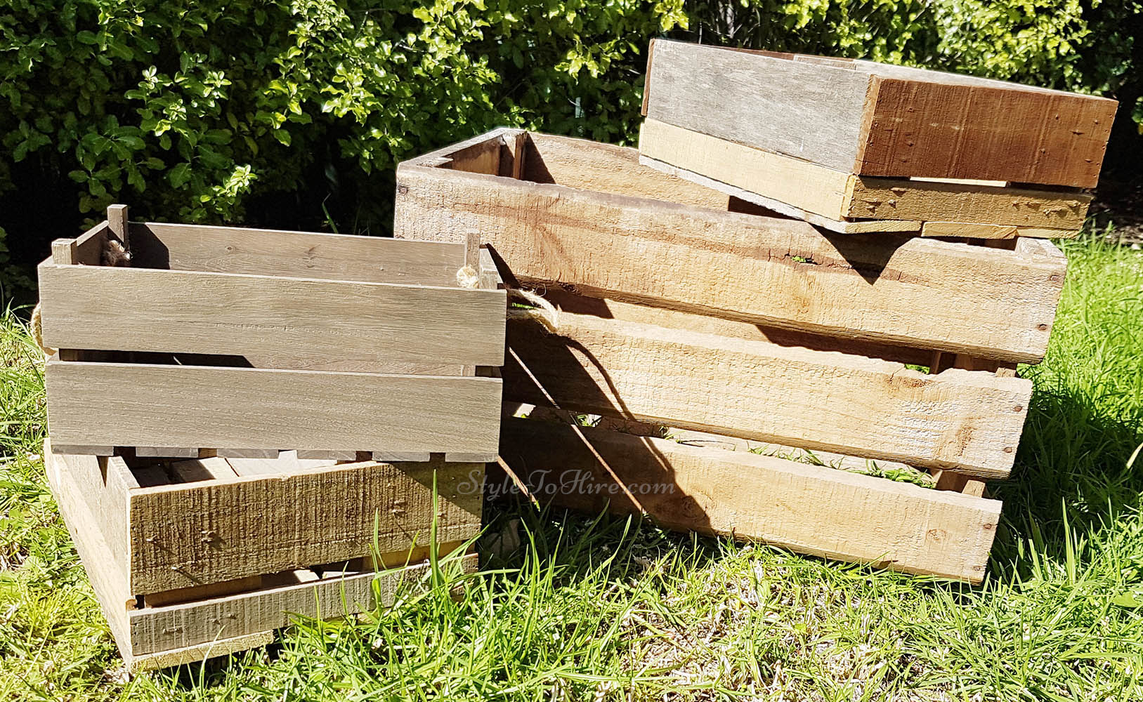 Wooden crates various sizes $5.00 each