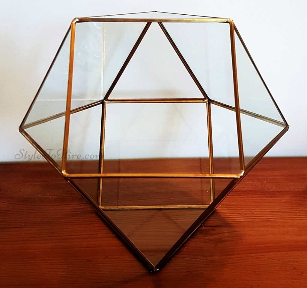 Gold large terrarium