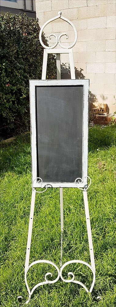 White wash chalkboard