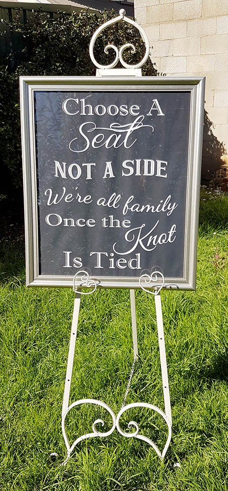 All family wedding sign