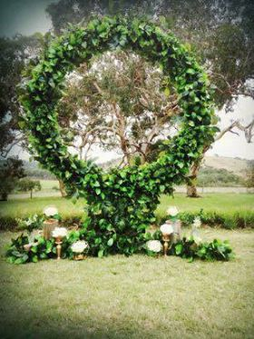 Circle of love greenery arch $125