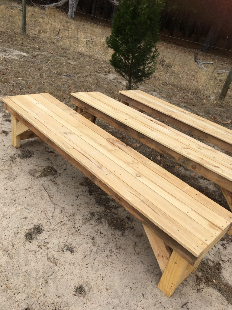 Rustic benches $25.00 each