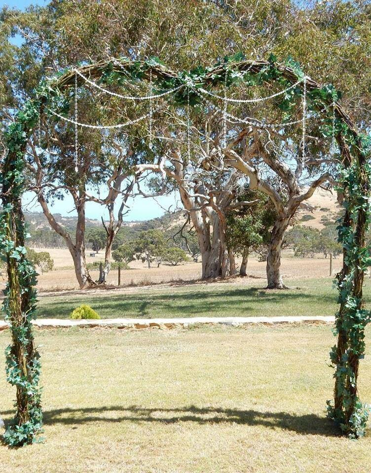 Enchanted forest love heart arch $145