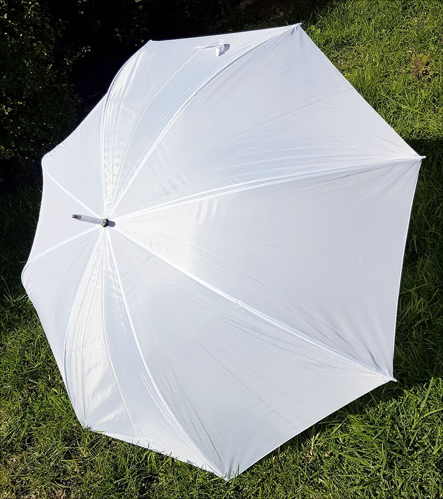 Large white umbrellas $2.50 each