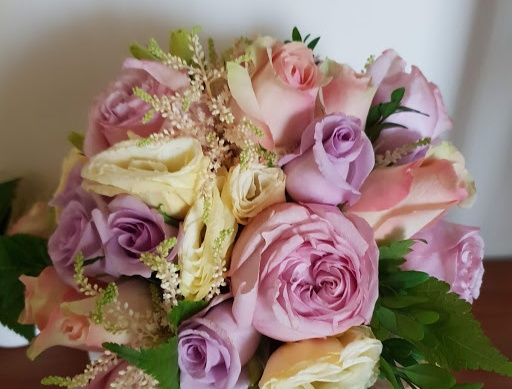Pastel seasonal blooms bouquet
