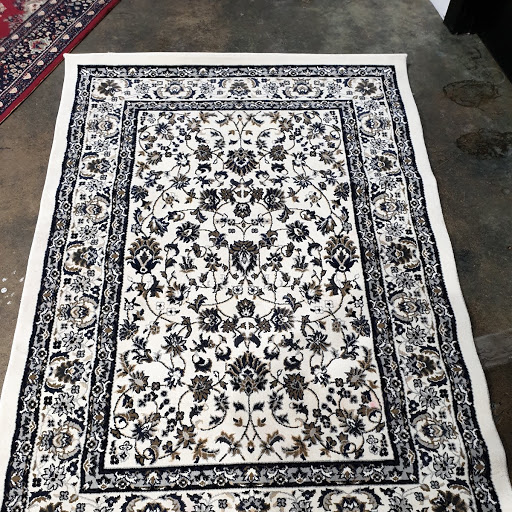 White and navy carpet $11.00 each