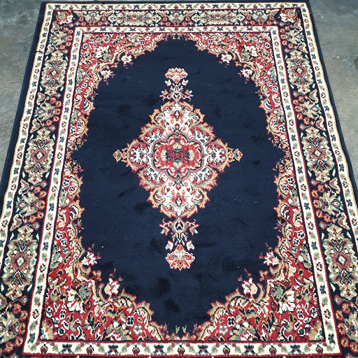 Navy, red and cream medium rug $27.00 each