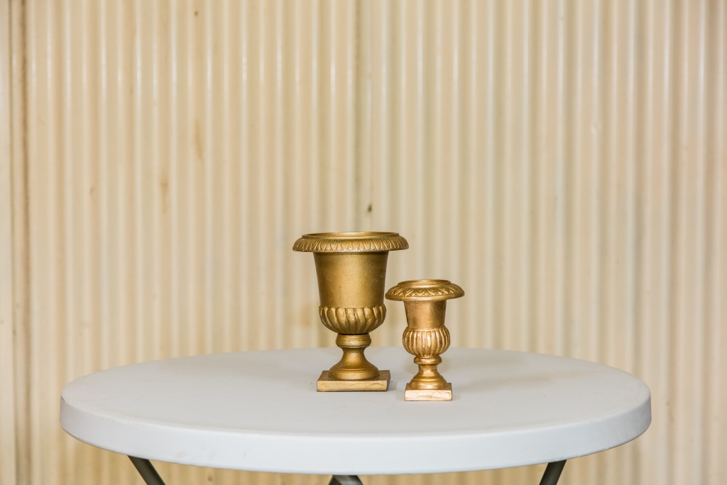 Gold urns- nickel plated