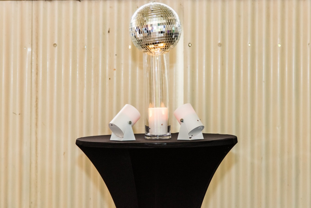Disco ball centrepiece $22.00 each