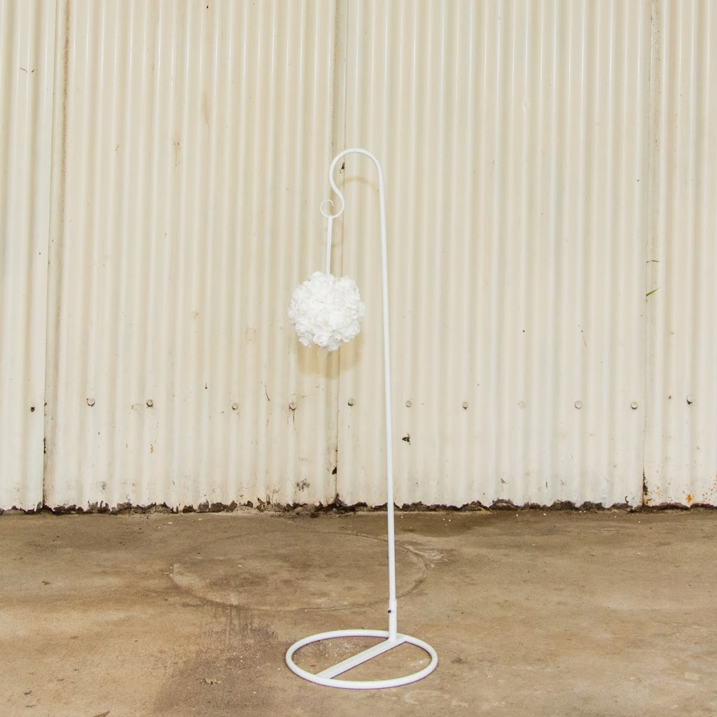 Sheppards hook w white rose ball $8.00 each